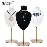 necklace holder stand commercial Jewelry display stand rack necklace display set bust design white black