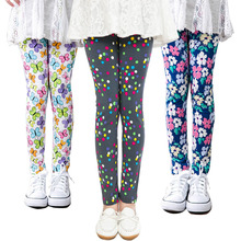 Kids Pencil Pants Baby Girls Leggings Childrens Printing Flower Toddler Leggings Girl Skinny Children Trousers Leggings