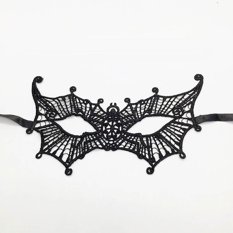 Черная Сексуальная кружевная Маскарадная маска для карнавала, Хэллоуина, маскарада на половину лица, маски для вечеринки, праздничные принадлежности для вечеринки#30 - Цвет: PM005