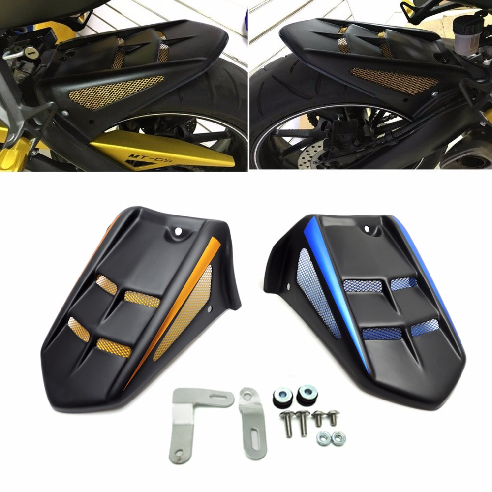 KEMiMOTO MT-09 FZ-09 MT09 FZ 09 ABS Rear Mudguard Hugger Fender for YAMAHA MT-09 FZ-09 2014 2015 2016 motoo for yamaha mt07 mt 07 2013 2017 fz07 2015 2016 2017 cnc aluminum rear tire hugger fender mudguard chain guard cover