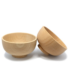 new dia 119mm hight quality japanese wooden bowlkitchen bowl reman noodle bowl food container cheap safe student lunch box