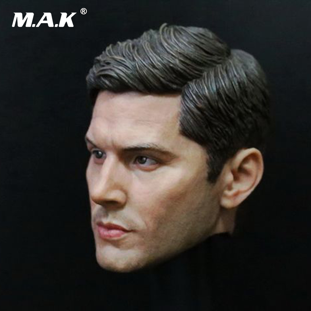 1/6 Male Head Sculpt Supernatural Dean Winchester Headplay Jensen Ackles Head Carved Model Toys Fit 12 Action Figure Body 1 6 headplay figure head model brown long hair female head sculpt 12 action figure collection doll toys gift