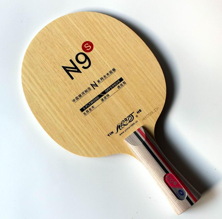Originale Milkey way Yinhe in legno puro N-9S lama da ping pong professionale per principianti racchette da ping pong sport indoor per racchette