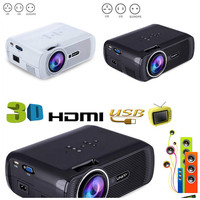 EU Portable Wifi Projectors 1080P Android4.4 HD 7000Lumens Movie Media Player Home Theater Projector For Video Game TV XXM8