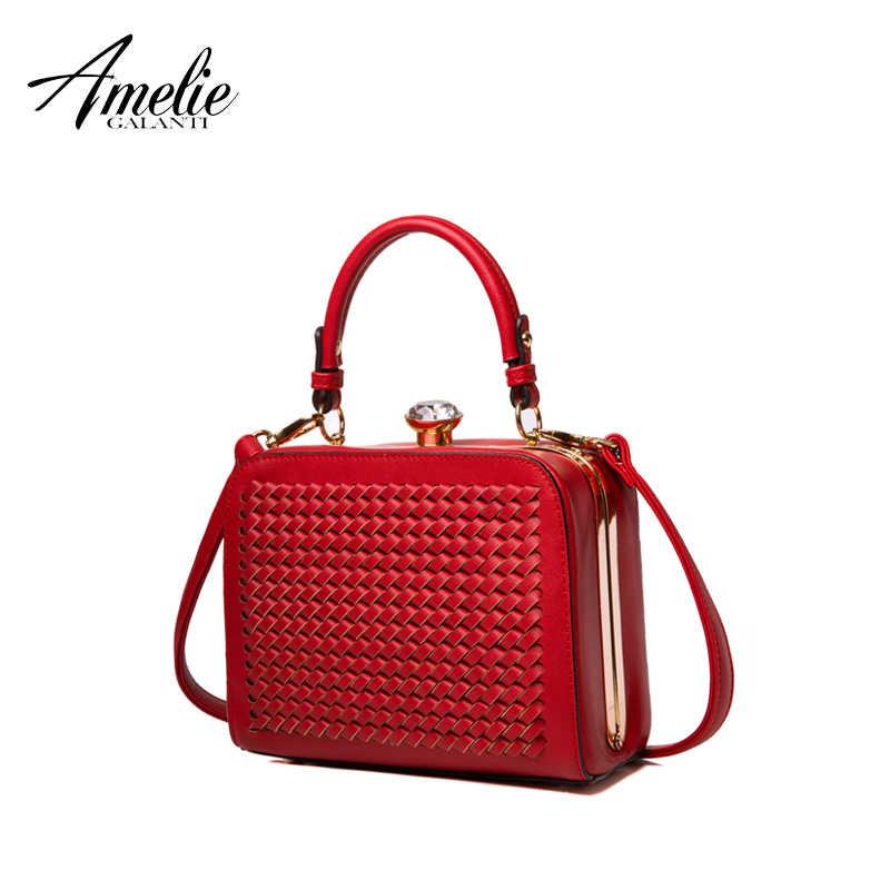 Amelie Galamti Wanita Tas Kecil Tas Kotak Wanita Malam Casing Tas Genggam Kecil Tas Selempang untuk Wanita Keras PU Kulit Wanita tas