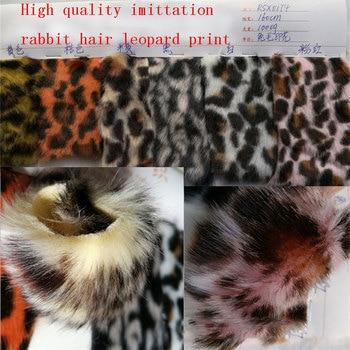 High quality imitation rabbit hair print Leopard print hair high 15 rabbit fur two-color leopard print leopard fox fur фото
