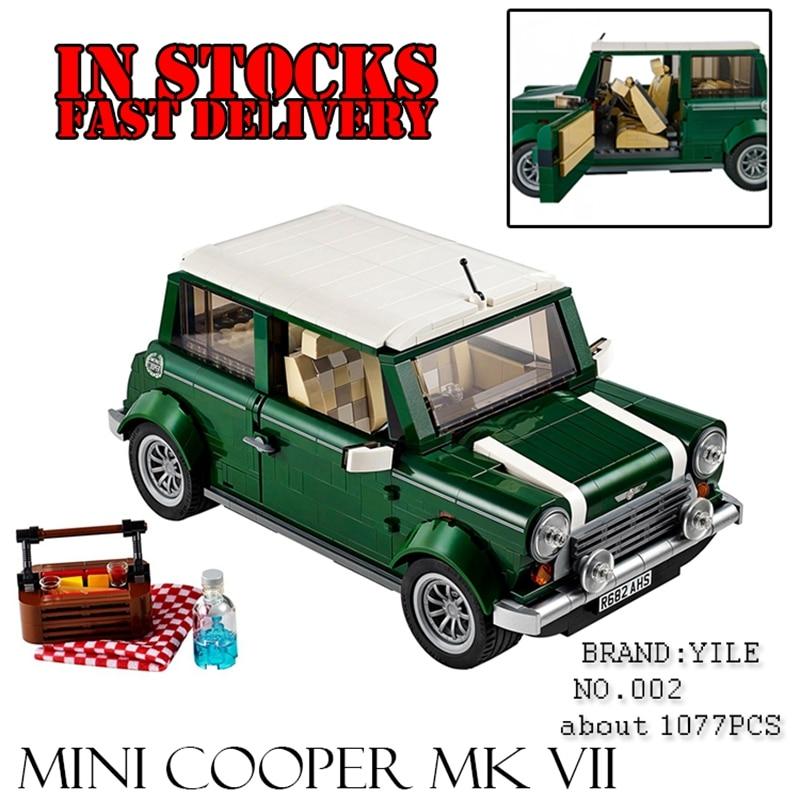 Yile Creator Expert Mini Cooper model Building Kit Blocks Bricks Compatible 10242 Technic car Toys for children gift revell mini cooper