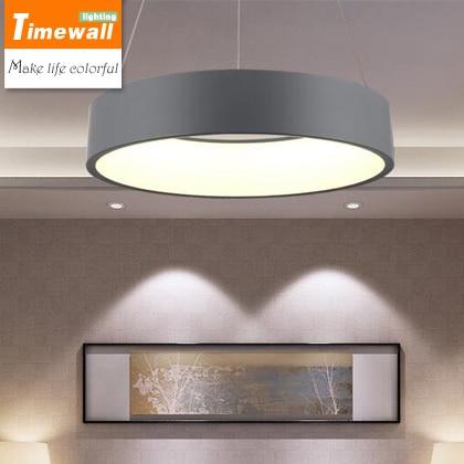 US $120.57 23% di SCONTO|Ristorante moderno lampadario camera da letto  personalità lampada nordic minimalista salotto ufficio anello led  lampadario in ...