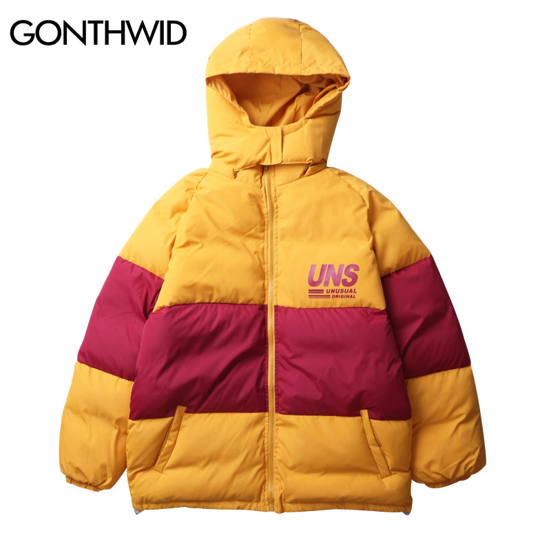 Gonthwid 2018 Removable Hooded Cotton Padded Thick Parkas