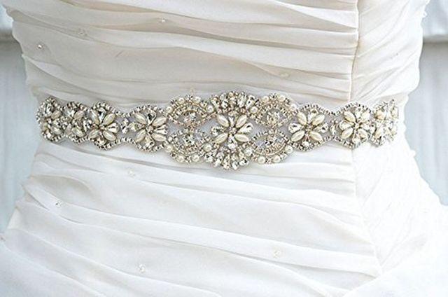 10efda2600a Luxry Main De Mariée Sash Ceinture Cristal Perle Strass Mariage Bijoux Sash  Ceinture