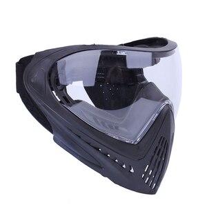 Image 4 - FMA F1 חיצוני פיינטבול מסכת Airsoft בטיחות מגן נגד ערפל Goggle מלא מסיכת פנים עם שחור/רעיוני/צהוב/נקי עדשה