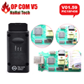 Mejor Chip de OP COM OP-COM V1.59 FW PIC18F458 V5 PCB V01.59 FW herramienta de Diagnóstico para Opel OPCOM OBD2 Escáner de diagnóstico auto