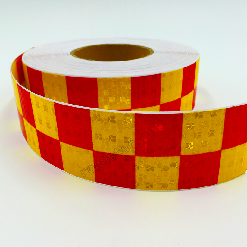 5cm X 3m Acrylic Adhesive Shining Reflective Warning Tape / Square  Printing Reflective Tape For Cars Safety