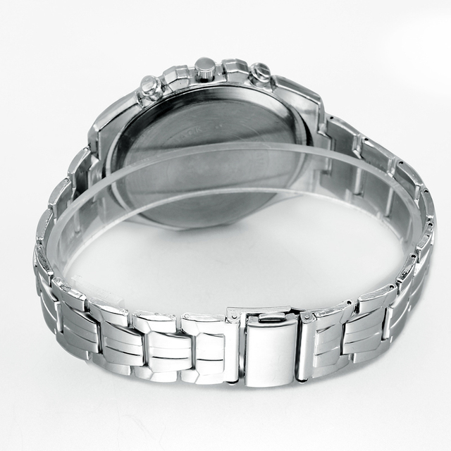 Silver Color/Stainless Steel Dressing Wristwatch for Men