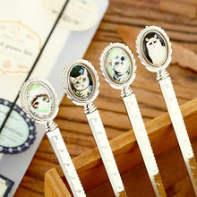 1 X 10cm Vintage cat rotation metal ruler straight ruler office school supplies kids gift stationery sewing ruler