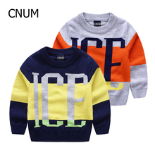 CNUM High Quality cotton kids outerwear boys sweater New Brand Boy Sweater children's clothes o-neck polos sweaters baby sweater