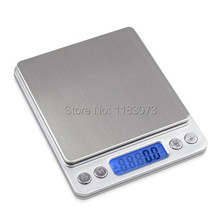 3kg 0.1g Kitchen Electronic Scales 3000g 0.1g LCD Digital Pocket Food Diet Scale Jewelry Lab Weight Balance With Two Tray 4Units