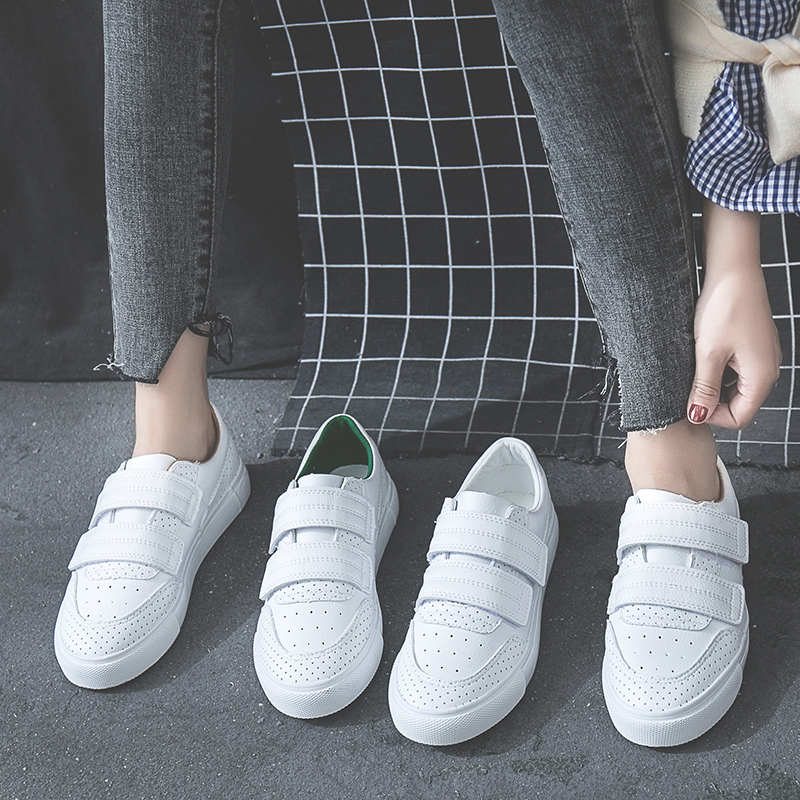 HOT Women Sneakers Fashion Breathble Vulcanized Shoes Platform Lace Up Casual White Tenis Feminino Zapatos De Mujer Pu Leather 8