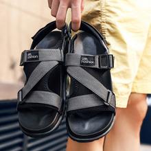 Hot Sandalias Hombre 2019 Summer Gladiator Casual Shoes Men Beach Sandals Slippers Flat Men's Outdoor Shoes Roman Big Size 36-46