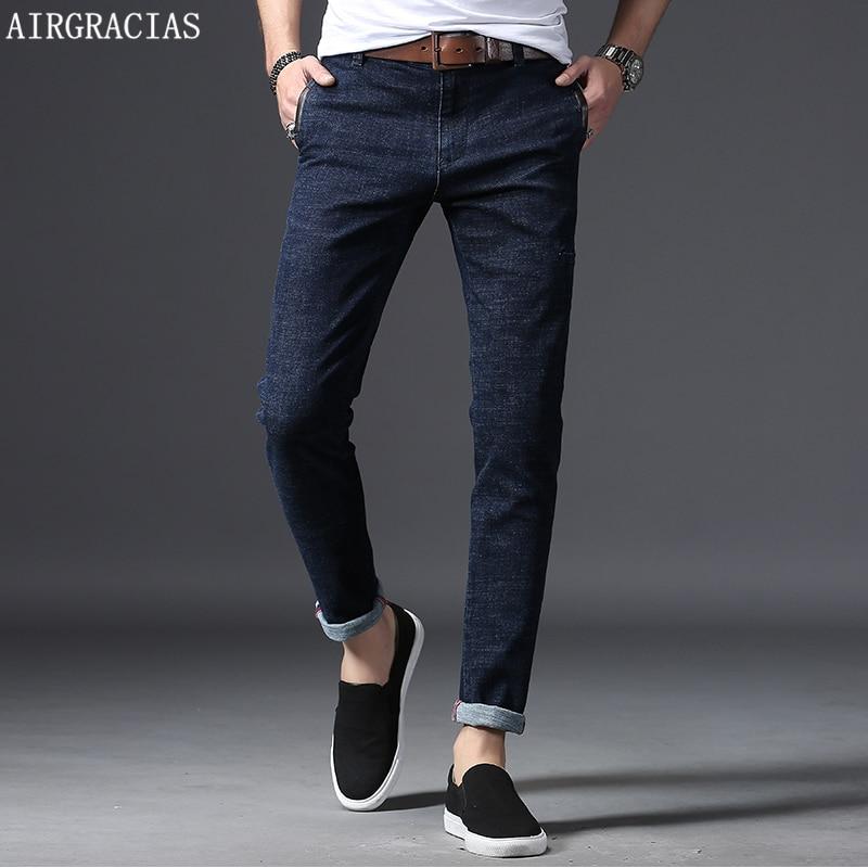 8dc9b2deede AIRGRACIAS Brand Men Stretch Denim Slim Jeans Blue Casual Trendy Trousers  Pants Size 28 - 36
