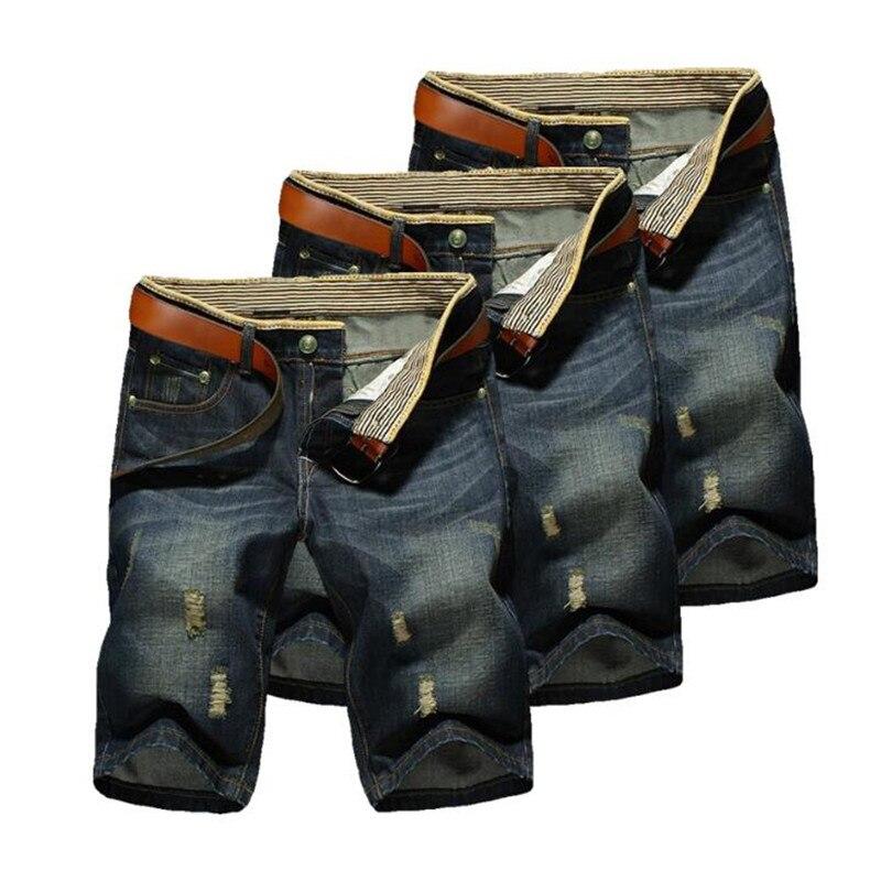 2019 Hot JEANS Pants Casual Men 's 1Pcs Cotton NEW Denim Fashion SHORTS Summer