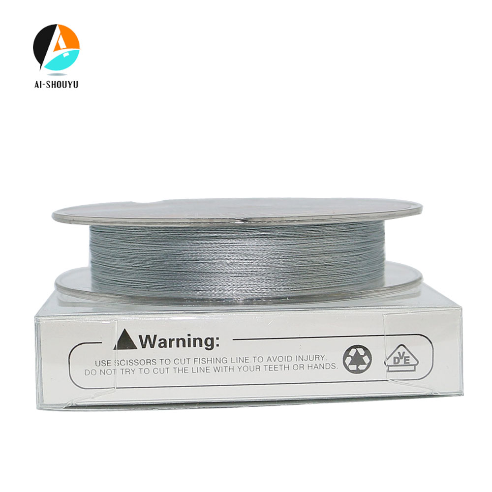 AI SHOUYU Braided Fishing Line 4 Strands 100m Grey Multifilament PE Fishing Line for Carp Fishing Saltwater Freshwater in Fishing Lines from Sports Entertainment