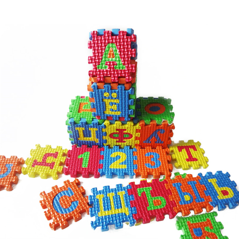 Foam Learning Toy Crawling MatBaby Puzzle Mats Russian Alphabet Geometry Toys Kids Carpet Babies