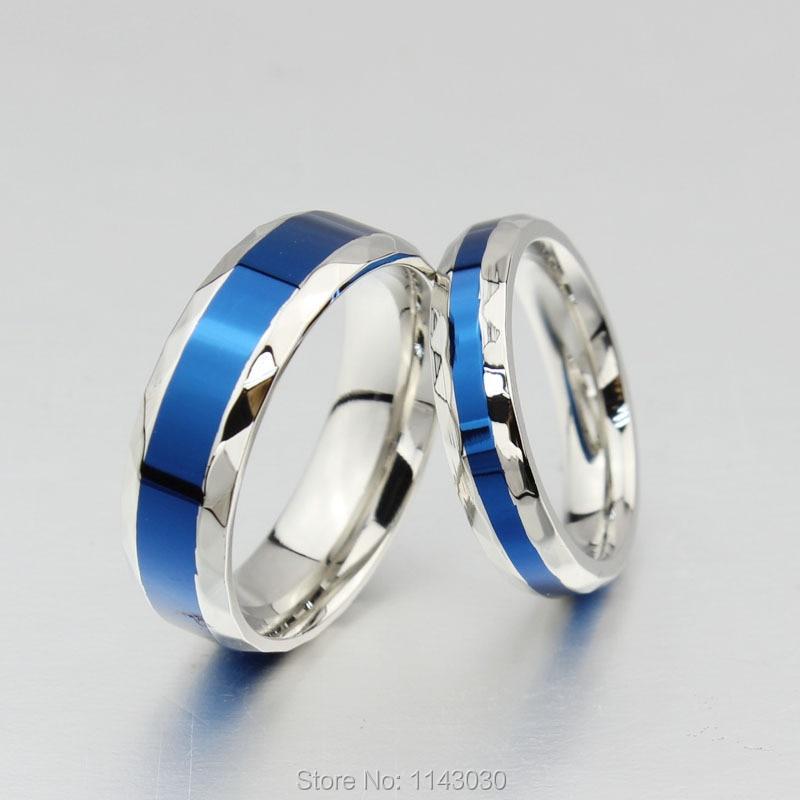 blue titanium couple rings women wedding ring men promise. Black Bedroom Furniture Sets. Home Design Ideas
