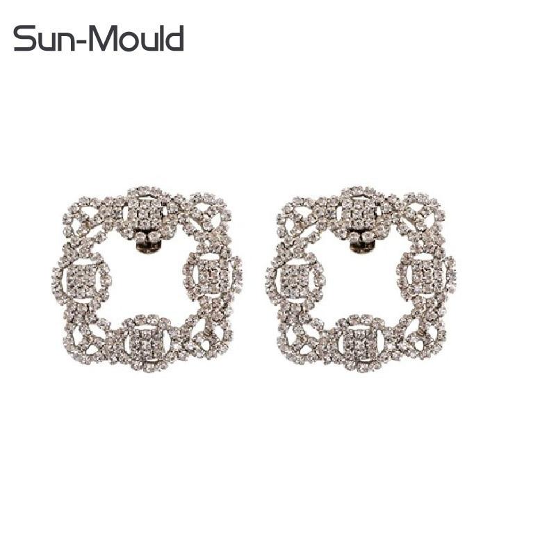 2pcs(1pair )Elegant Rhinestone Crystal Metal Shoe Clips Wedding Party Pack shoes flower charms