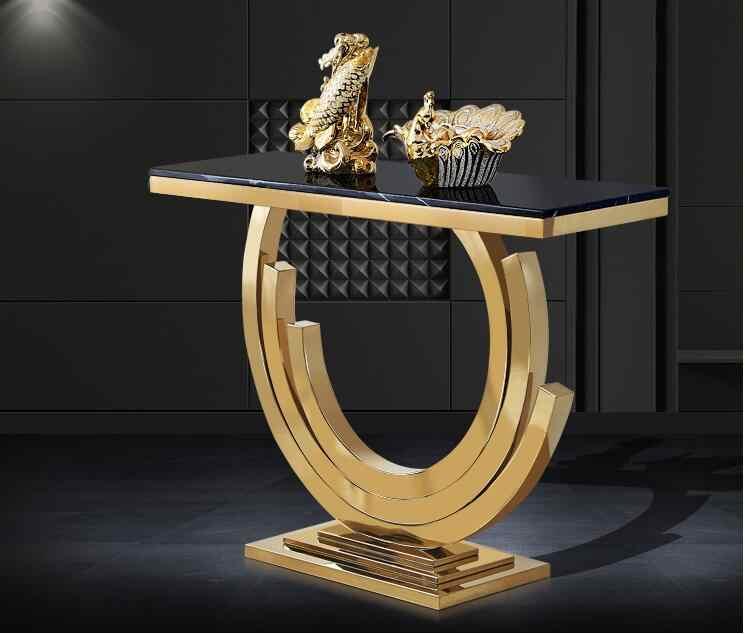 Porch Table Simple Modern Anium Gold