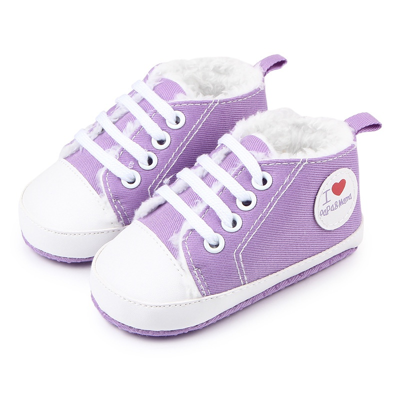 Baby Shoes Infant Newborn Soft Bottom Love Heart Baby Boy Girl Thicker First Walkers Soft Sole Shoes Sneaker 0-12Months