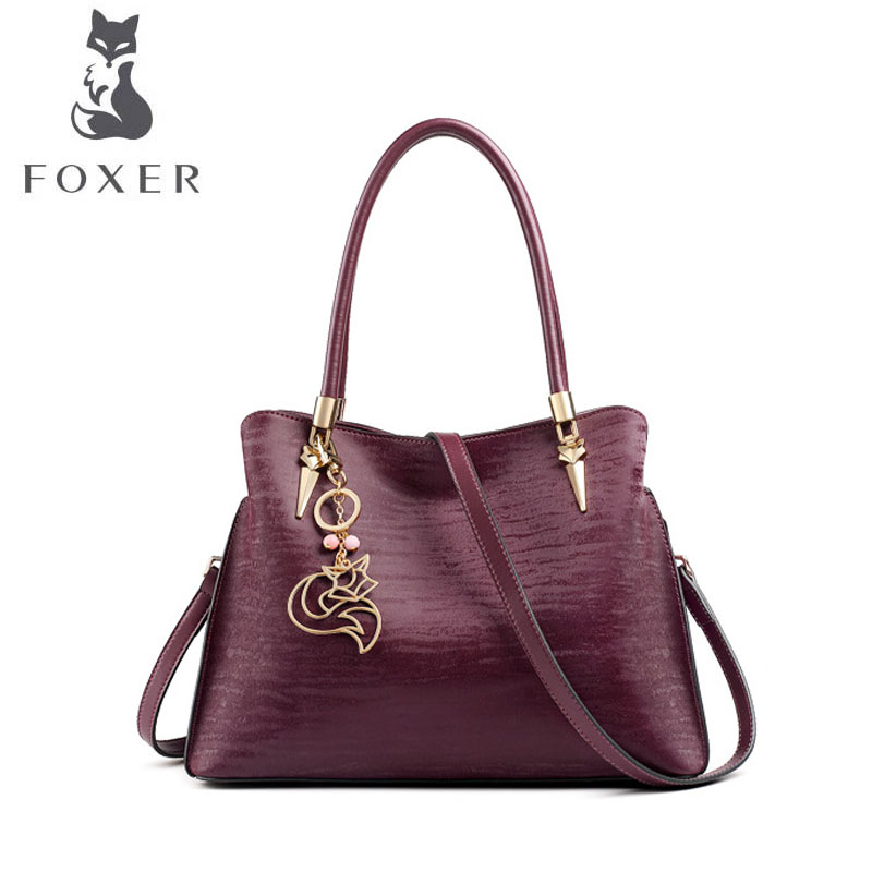 FOXER brand bags for women 2018 new women leather bag fashion tote women bag designer women leather handbags shoulder bag сумка brand new women bag