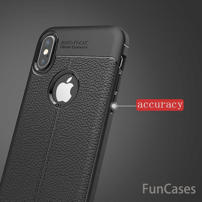 Mewah Case untuk iPhone X Case Kulit Flip untuk iPhone X Penutup Pelindung Kembali Penuh Cover untuk IPhoneX Case telepon Coque Capa