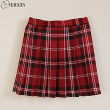 Campus Style High Waist Skirt Women Girls Sailor Scotland Plaid Checks School Uniform Pleated Skirts Cotton Tartan Skirt