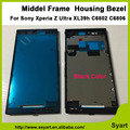New white Black High Quality Middle Frame Middle LCD Frame Housing Bezel Repair Parts For Sony Xperia Z Ultra XL39h  C6802 C6806