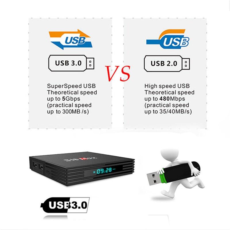 S10 MAX 4GB 32GB Android 9.0 Smart TV BOX Amlogic S905X2 Quad Core décodeur lecteur multimédia Support 5G WIFI BT USB3.0 OTT Box - 5