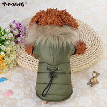 T-MENG 2017 New Waterproof Fabric Dog Coat Winter Small Size Pet Clothes Thickening Down Jacket Clothing For Dogs