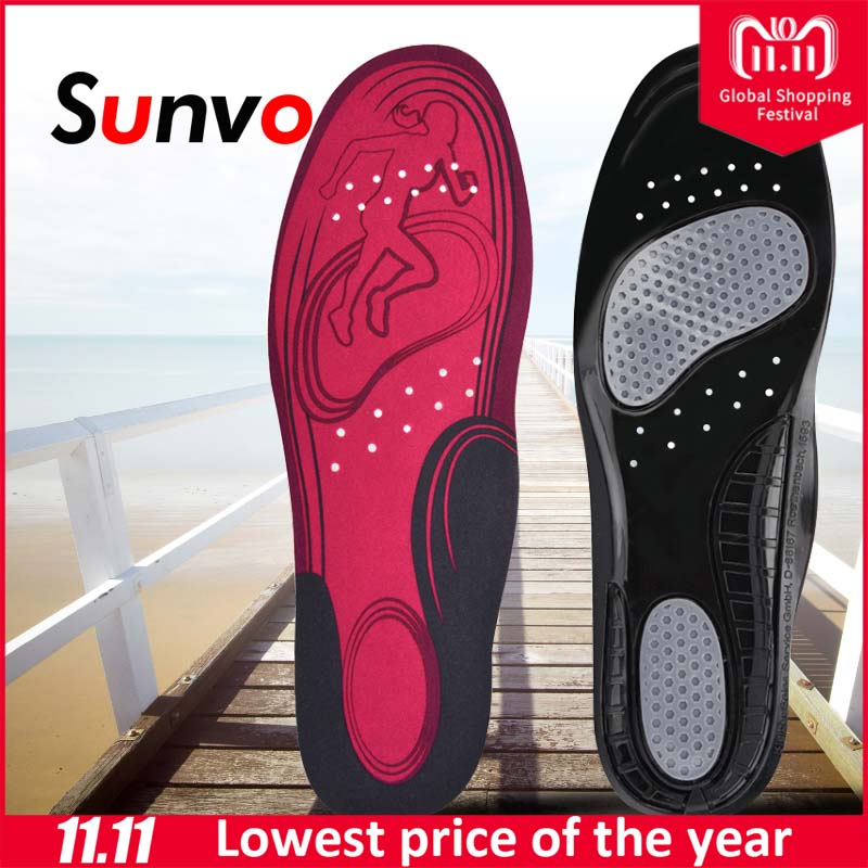 Sunvo Sports Running Insoles for Women Men Shock Absorption Casual Sneaker Shoes Cushion Pad Soft Comfortable Sole Insert Insole цена 2017