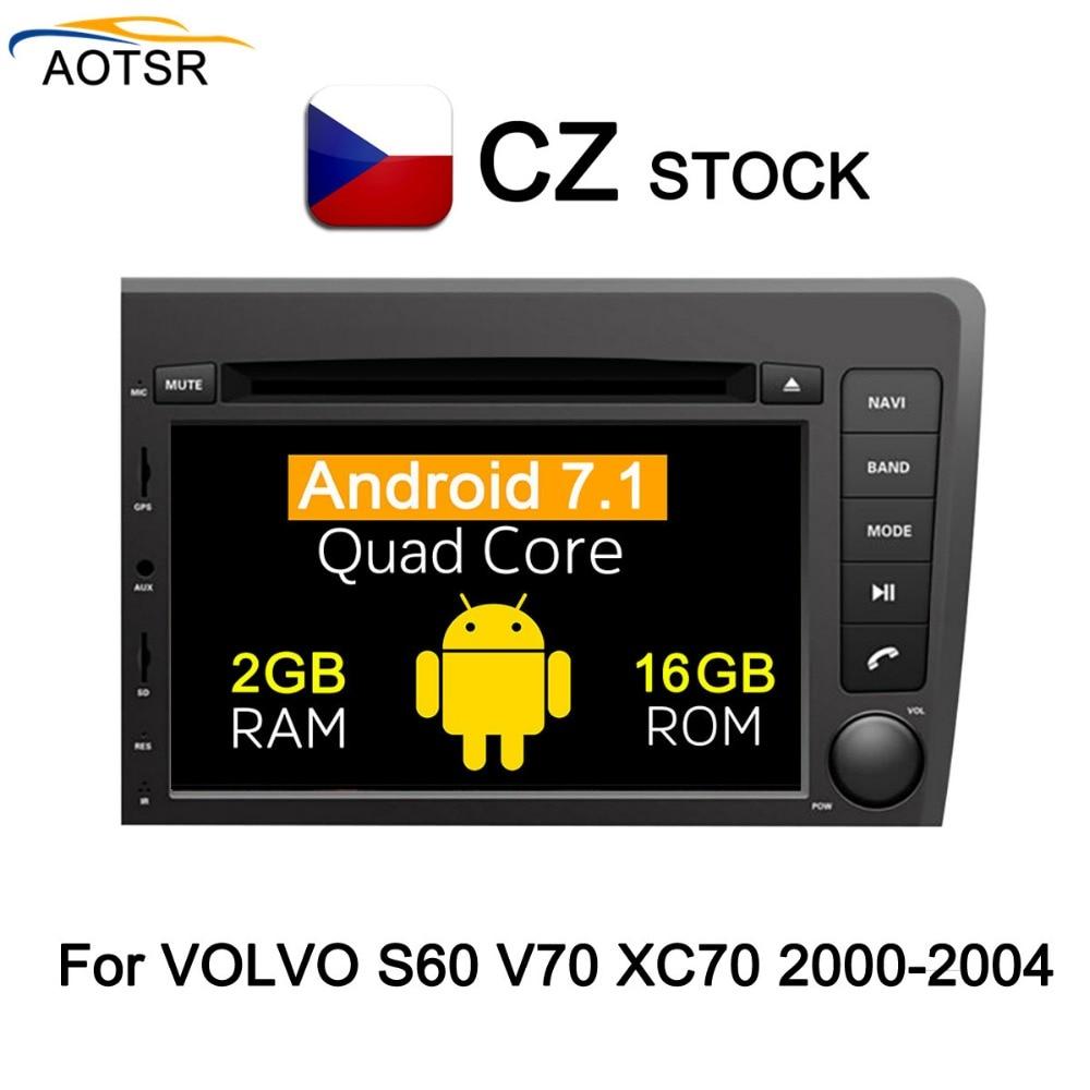 Android 7.1 Car dvd lettore multimediale unità di testa Per Volvo S60 V70 XC70 2000 2001 2002 2003 2004 GPS per auto di navigazione Radio stereo