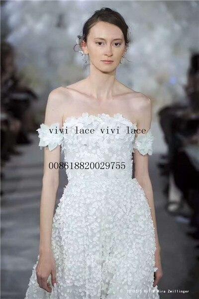 Ysl008-tulle à fleurs de bonne qualité   Filet abricot et dentelle en maille pour mariage/robe de soirée/robe de haute couture 5 yards