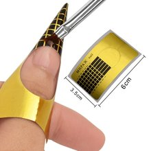 100pcs/set Nail Art Tape Nail Extension Stickers Forms Makeu