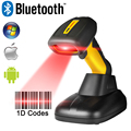Portable Wireless Bluetooth Barcode Scanner Waterproof IP67 CCD 1D Bar Code Reader Easy Charging Support for IOS Android RD-1203
