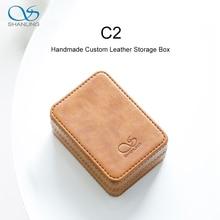 SHANLING C2 Handmade Custom Leather Storage Box for ME100 Earphones Portable Pressure Box