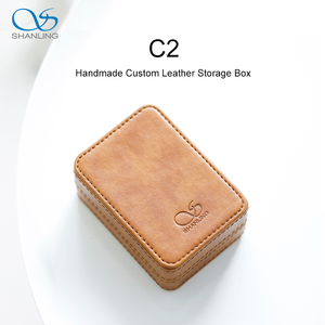 Image 1 - SHANLING C2 Handmade Custom Leather Storage Box for ME100 Earphones Portable Pressure Box
