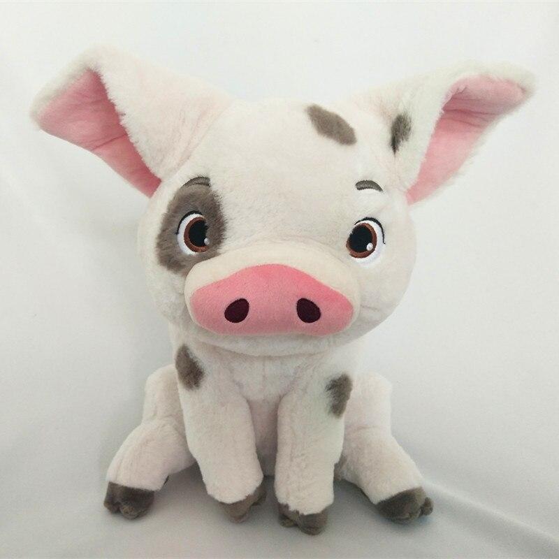 New Authentic 35cm Moana Maui Heihei Pet Pig Pua Soft Stuffed Plush Toy Doll Movie Princess Soft Toys