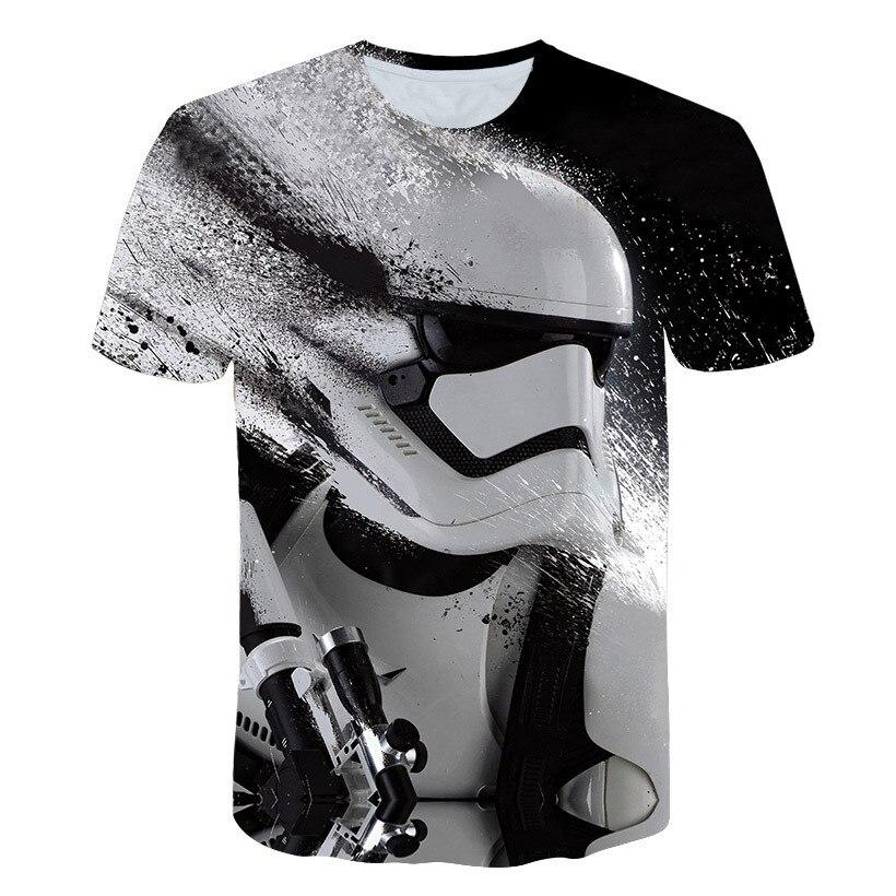 Women Men Star War White Warrior 3D Print Casual T-Shirt Tee Short Sleeve Tops