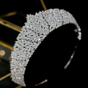 Image 2 - ASNORA Cổ Điển CZ Đính Đá Cubic Zirconia Cưới cô dâu Mũ Đội Đầu Thái Đầu nữ Dự Tiệc Phụ Kiện Trang Sức