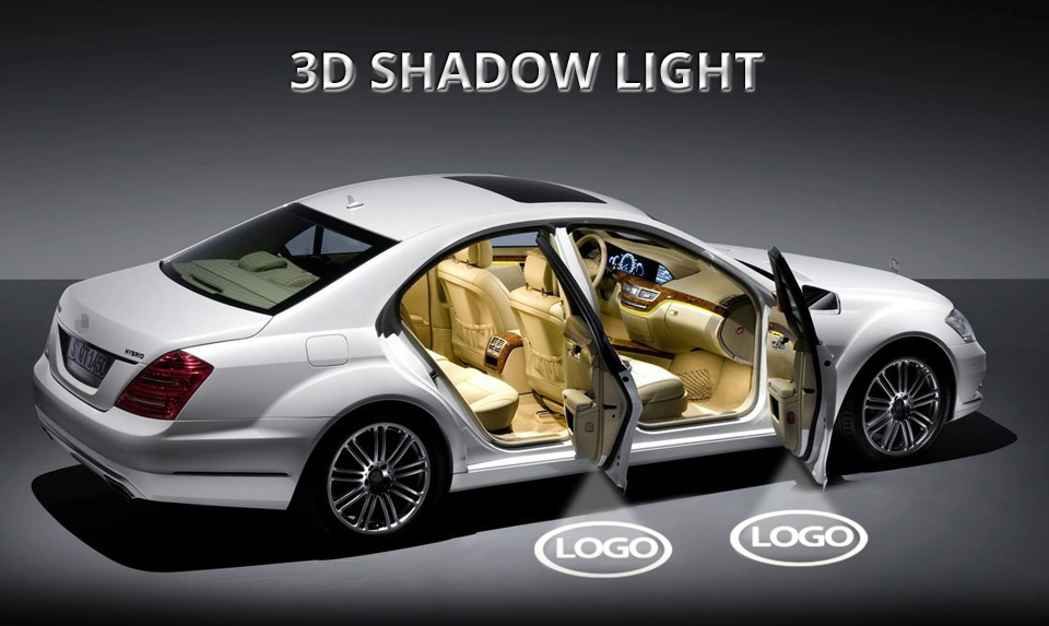For Audi Car Door LED Welcome Light Audi Logo Projector Courtesy Lights ambient light Car Styling Clarity Soft Decorative light (1)
