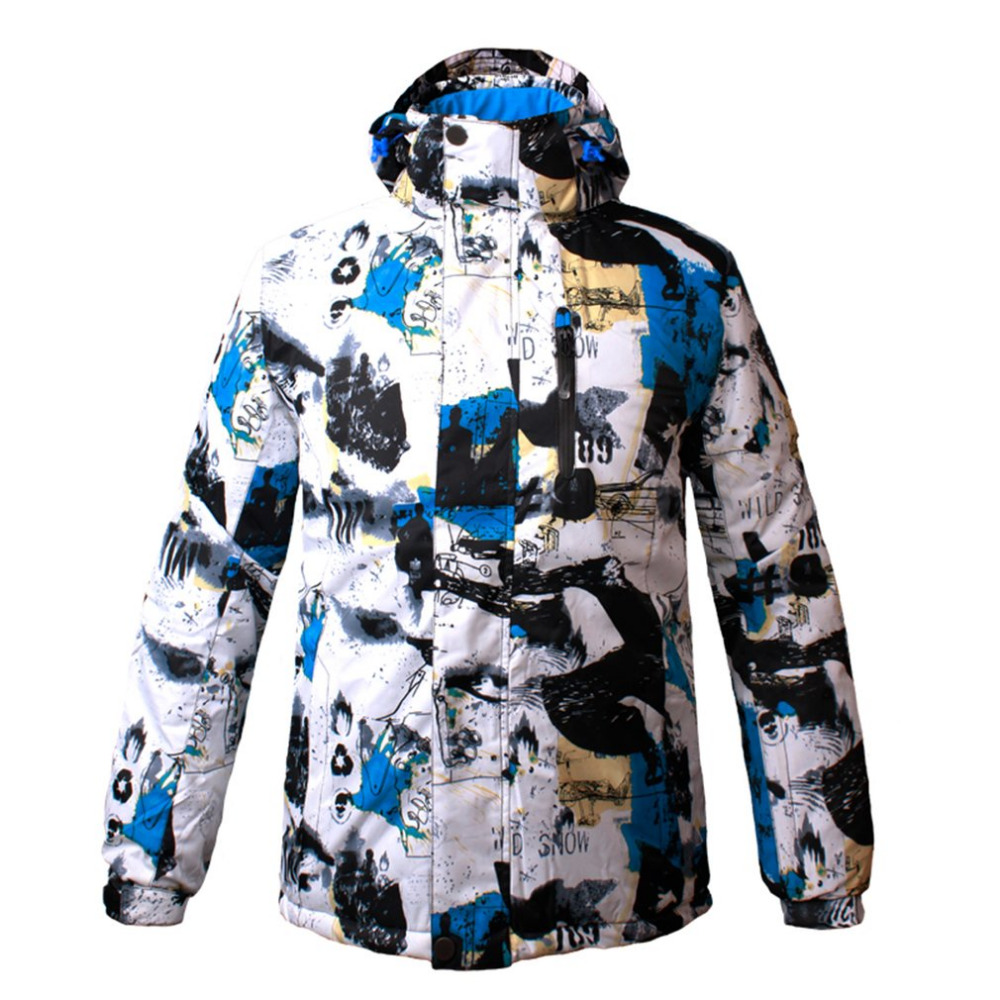 Professional Ski Jacket for Men Waterproof Windproof Warm for Outdoor Hiking Snowboarding Cycling 4 colors