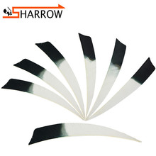 50pcs 5 Arrow Feathers Shooting DIY Right Wing Vanes Natural Fletching Turkey Feather For Outdoor Archery Accessories